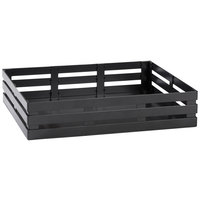 GET Enterprises FB-1113-MG Curator Gray Half Size Metal Crate Cutting Board Frame - 13 1/2 inch x 11 inch x 2 3/4 inch