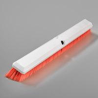 Carlisle 4189124 Sparta Spectrum Omni Sweep 24 inch Push Broom Head with Orange Unflagged Bristles