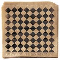 Get Enterprises P-BKC-77-BR 7 inch x 7 inch Black Checker Double-Open Bag - 2000/Case
