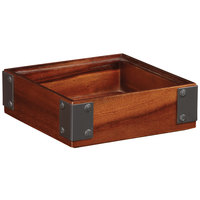 GET Enterprises WB-662WD-W Urban Renewal 6 inch x 6 inch x 2 inch Walnut Square Wood Display Box