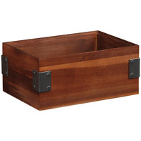 GET Enterprises WB-964WD-W Urban Renewal 9 inch x 6 inch x 4 inch Walnut Rectangular Stackable Wood Display Box