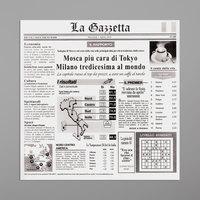 GET Enterprises 4-TI1808 White 12 inch x 12 inch Italian Newsprint Liner - 1000/Case
