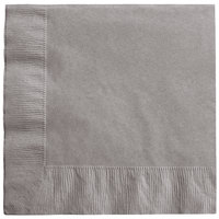 Creative Converting 339638 Glamour Gray 3-Ply 1/4 Fold Luncheon Napkin - 50/Pack