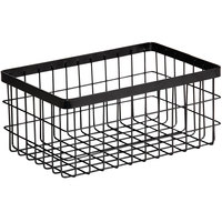 GET Enterprises WB-964-MG Urban Renewal 9 inch x 6 inch x 4 inch Metal Gray Rectangular Wire Basket