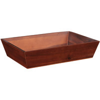 GET Enterprises WB-1814WD-W Urban Renewal 18 1/4 inch x 12 inch x 4 inch Walnut Rectangular Wood Tray
