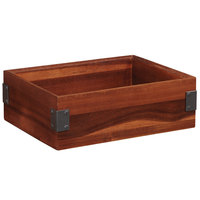 GET Enterprises WB-664WD-W Urban Renewal 6 inch x 6 inch x 4 inch Walnut Square Wood Display Box