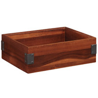 GET Enterprises WB-1294WD-W Urban Renewal 12 inch x 9 inch x 4 inch Walnut Rectangular Stackable Wood Display Box