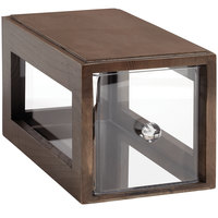 GET Enterprises Urban Renewal BB-SQ-7-GA Gray Ash 12 1/4 inch x 6 inch x 6 inch Stackable Square Bread Box