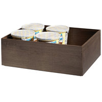 GET Enterprises WB-664WD-GA Urban Renewal 6 inch x 6 inch x 4 inch Gray Ash Square Wood Display Box