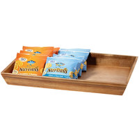 GET Enterprises WB-1812WD-UR Urban Renewal 18 1/4 inch x 12 inch x 2 inch Urban Rustic Rectangular Wood Tray