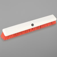 Carlisle 4189024 Sparta Spectrum Omni Sweep 18 inch Push Broom Head with Orange Unflagged Bristles