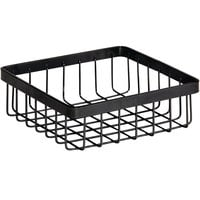 GET Enterprises WB-662-MG Urban Renewal 6 inch x 6 inch x 2 inch Metal Gray Square Wire Basket