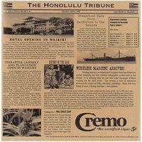 GET Enterprises 4-TH1700 Brown 12 inch x 12 inch Hawaii Newsprint Liner - 1000/Case