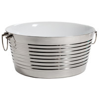 GET Enterprises BT-1919-SS/W 19 inch x 9 inch Stainless Steel Double Wall Beverage Tub