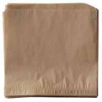 Get Enterprises 4-T4000 7 inch x 7 inch Brown Double-Open Bag - 2000/Case