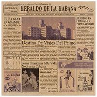 GET Enterprises 4-TE1050 Brown 12 inch x 12 inch Cuban Newsprint Liner - 1000/Case