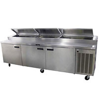 Delfield 186114PTBMP 114 inch Three Door Refrigerated Pizza Prep Table