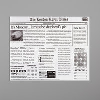 Get Enterprises 4-TL1215 15 inch x 12 inch London Newsprint Liner - 1000/Case