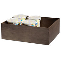 GET Enterprises WB-1294WD-GA Urban Renewal 12 inch x 9 inch x 4 inch Gray Ash Rectangular Stackable Wood Display Box