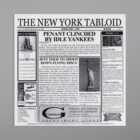 GET Enterprises 4-TY1200 White 12 inch x 12 inch New York Newsprint Liner - 1000/Case