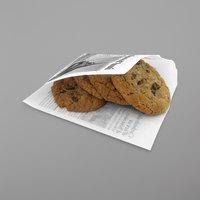 Get Enterprises 4-T1050 5 1/2 inch x 5 1/2 inch French Newsprint Double-Open Bag - 2000/Case