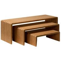 GET Enterprises BAMRISERR8 8 inch Bamboo 3-Piece Cascade Riser Set