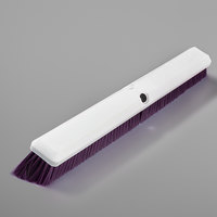 Carlisle 4189168 Sparta Spectrum Omni Sweep 24 inch Push Broom Head with Purple Unflagged Bristles