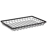 GET Enterprises WB-1812-MG Urban Renewal 17 3/4 inch x 11 1/4 inch x 2 inch Metal Gray Rectangular Wire Basket