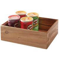 GET Enterprises WB-1294WD-UR Urban Renewal 12 inch x 9 inch x 4 inch Urban Rustic Rectangular Stackable Wood Display Box