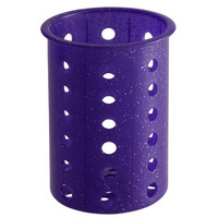 Steril-Sil RP-25-PURPLE Purple Perforated Plastic Flatware Cylinder