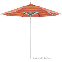 California Umbrella AAT 908 SUNBRELLA 1A Rodeo Customizable 9' Round Push Lift Umbrella with 1 1/2 inch Aluminum Pole - Sunbrella 1A Canopy
