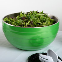 Vollrath 4656935 Double Wall Round Beehive 10 Qt. Serving Bowl - Green Apple