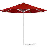 California Umbrella AAT 908 SUNBRELLA 2A Rodeo 9' Round Push Lift Umbrella with 1 1/2 inch Aluminum Pole - Sunbrella 2A Canopy