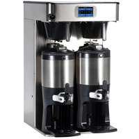 Bunn 53400.0101 ICB Twin Tall Platinum Edition Infusion Series Black / Silver Twin Automatic Coffee Brewer - 120/240V, 6000W