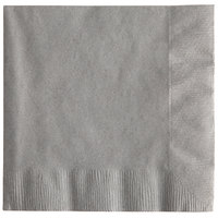 Creative Converting 339651 Glamour Gray 3-Ply Beverage Napkin - 50/Pack