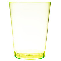 Fineline Savvi Serve 410-Y 10 oz. Tall Neon Yellow Hard Plastic Tumbler - 20/Pack