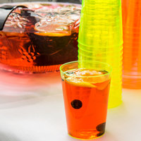 Fineline Savvi Serve 410-Y 10 oz. Tall Neon Yellow Hard Plastic Tumbler - 20/Pack