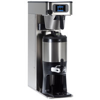 Bunn 54000.0100 ITCB Infusion High Volume Platinum Edition Black / Silver Single Automatic Combination Coffee / Tea Brewer - Dual Voltage