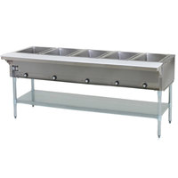 Eagle Group SHT5 Liquid Propane Steam Table Five Pan - All Stainless Steel - Open Well
