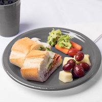 Creative Converting 339659 10 inch Glamour Gray Plastic Plate - 20/Pack