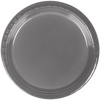Creative Converting 339657 7 inch Glamour Gray Plastic Plate - 20/Pack