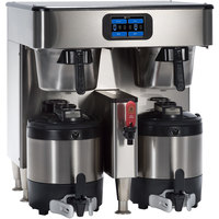 Bunn 54200.0100 ICB TF Platinum Edition Infusion Series Black / Silver Twin Automatic Coffee Brewer - 120/240V, 6000W