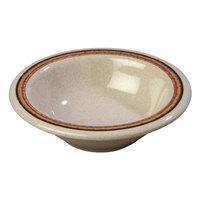 Carlisle 43043908 Mosaic Durus 4 1/2 oz. Sierra Sand on Sand Rimmed Melamine Fruit / Monkey Dish - 48/Case