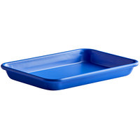 Baker's Mark Eighth Size 18 Gauge Non-Stick 6 1/2 inch x 9 1/2 inch Light Blue Wire in Rim Aluminum Bun / Sheet Pan / Tray