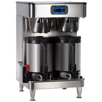 Bunn 53600.0100 ICB Twin SH Platinum Edition Infusion Series Black / Silver Twin Automatic Coffee Brewer with Wireless Server Monitoring - 120/240V, 6000W