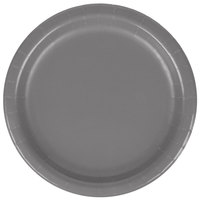 Creative Converting 339645 7 inch Glamour Gray Paper Plate - 20/Pack