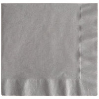 Creative Converting 339640 Glamour Gray 3-Ply 1/4 Fold Dinner Napkin - 25/Pack
