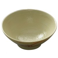 Thunder Group 5706 Gold Orchid 16 oz. Round Melamine Soup Bowl - 12/Case