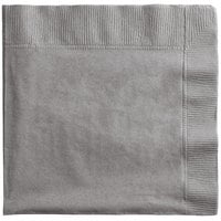 Creative Converting 339641 Glamour Gray 2-Ply 1/4 Fold Luncheon Napkin