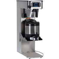 Bunn 52500.0100 ITCB-DV Platinum Edition Infusion Black / Silver Single Automatic Combination Coffee / Tea Brewer with Adjustable Shelf - Dual Voltage